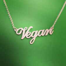 Vegan Pendant Necklace Vegetarian Symbol Jewelry Fashion Made To Order Gift Wrap