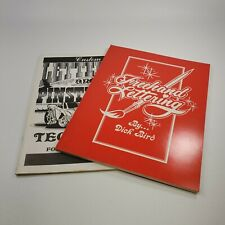 Freehand Lettering Dick Bird Lot of 2 Books Custom Lettering and Pinstriping Tec