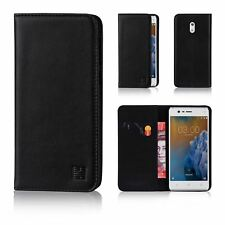 32nd Classic Series - Real Leather Book Wallet Flip Case Cover for Nokia 3 (2017