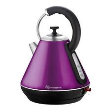 1.8L LED Cordless Electric Swivel Kettle Tea Coffee Water Fast Boil Purple 2200W