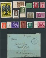 Lot Stamp Germany Cover Legion WWII Feldpost Hitler Poland Italy Label Faults
