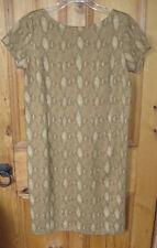 Ralph Lauren Python Dress boat neckline, cap sleeves stretch L new