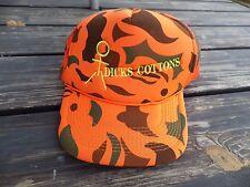 Orange Camo Trucker Hat mesh snapback Dicks Cottons hipster ironic