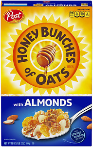 Post Honey Bunches of Oats with Almonds, Heart Healthy, Low Fat 18 Ounces