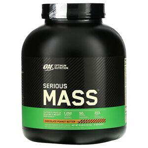 Serious Mass, Protein Powder Supplement, Chocolate Peanut Butter, 6 lb (2.72 kg)