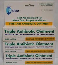 First Aid Triple Antibiotic Ointment 1oz Tube -3 Pack -Expiration Date 12-2018