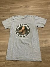 Starbucks Funny T-shirt Dr Evil Belgium Dip Edition S  Like NEW