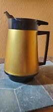 New listing Vintage West Bend Thermo Serv Black & Gold Insulated Coffee Carafe Pitcher