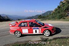 Freddy Loix Mitsubishi LANCER EVO WRC Tour de Corse Rally 2001 fotografía 2