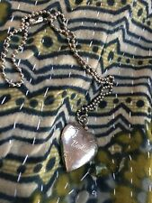 Barbie~Silver Tone Etched Heart Locket Necklace/Keychain