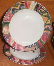 "Pair of  Dinner Plate 10 7//8/"" Stoneware by Sue Zipkin Malaga by Sakura"