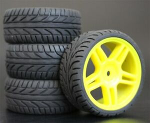 1/10 Onroad Touring Rc Car Wheels & Rubber Tires Set for Hpi Rs4 Sprint2 E10