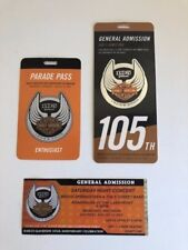 HARLEY 105TH CELEBRATION 2008 TICKET PACKAGE WITH PARADE PASS