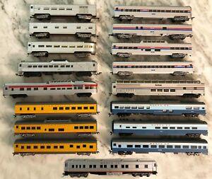 Con Cor Rivarossi HO Lot of 17 Amtrak Santa Fe Custom AMRoad UP Passenger Cars