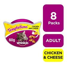 More details for whiskas temptations cat treats chicken & cheese cat biscuits 8 x 60g (480g)
