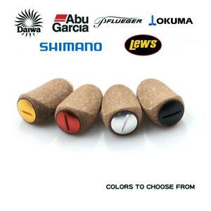 Abu Shimano Daiwa Reel Handle Knob Soft Rubber Cork Wood Spinning Baitcasting