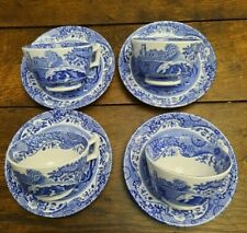 More details for spode italian willow cups & saucers x 4