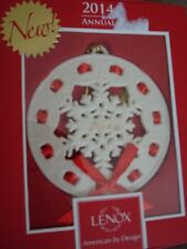 Lenox 2014 Annual Christmas Wrappings Snowflake Ornament 3.5 Inches Tall 846968