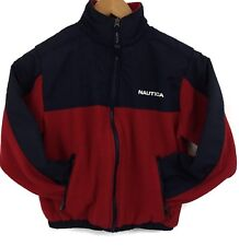 Children's NAUTICA Size Small 8 Zip Up Coat-Jacket With Pockets Red EUC