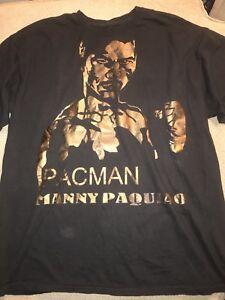 Mens Manny Pacquiao Gold Filipino Boxing Shirt XL