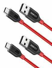 Anker USB-C A 2.0 2 cables set Red 0.9m x 2 PowerLine Galaxy S9 S8 MacB JAPAN