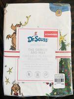 Pottery Barn Kids Grinch Cotton Flannel Pillow Case Dr Seuss Max Christmas Decor