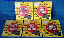 """VOICES FROM THE PAST - FDR, WILSON, TAFT, TRUMAN,HOOVER - (5) 7"""" LOT + PIC.SLVS"""