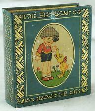 1920's Tin Litho German D.R.G.M. Coin Bank Piggy Boy With Big Head Duck Comic