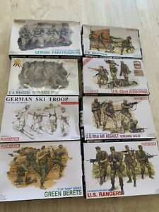 Dragon DML 1/35 Figure lot Marines Rangers D-day german ski 101st Green Berets