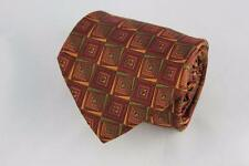 ROBERT TALBOTT Best of Class Nordstrom Silk Tie. Brown w Touch Green Geometric