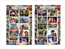 2012 DISNEY 1971 - 1995 FEATURE FILMS 10 SOUVENIR SHEETS MNH IMPERFORATED