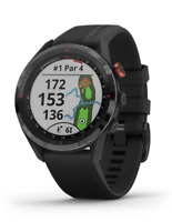 Garmin Approach S62, Black Ceramic Bezel with Black Band, 010-02200-00