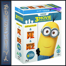 MINIONS COLLECTION (DESPICABLE ME 1 & 2 PLUS MINIONS) BRAND NEW BLU-RAY BOXSET**