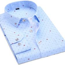 New Mens Shirt Formal Luxury Casual Business Slim Long Sleeve Dress Shirts XS-XL