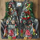 Men's 3XL Lighted Lit Christmas Realtree Camo Hunting Vest NWT Ugly Sweater XXXL