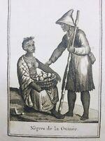 Guinée 1812 Afrique Rare Gravure Blanchard Ethnologie
