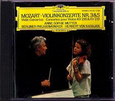 Anne-Sophie MUTTER: MOZART Violinkonzerte Nr.3 & 5 KARAJAN DG CD Violin Concerto