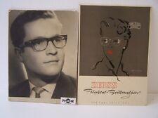2 nostalgische Reklametafeln ZEISS Punktual-Brillengläser + Duncker Rathenow