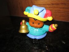 Fisher Price Little People Main St. Michael Xmas bell caroler village winter hat