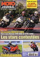 MOTO JOURNAL 1346 Test BMW R1100 RS 1100 SUZUKI GSX-F 600 HONDA VFR 800 VTR 1000