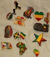 Bob Marley and Rasta Colours 13 Pins Set