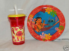 New Disney Lilo And Stitch Dinnerware, Plate And Sports Tumbler Cup