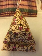 Ipad /Mini / Kindle Tablet Bean Bag Cushion Stand - Owls In Trees  Fabric BNIW