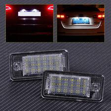 8E0807430A 2Pcs 18-LED License Plate Lights Lamp Fit for Audi A3 A4 A5 A6 A8 Q7