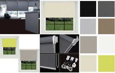 Blackout  Roller Blinds 100% Thermal  Plain Color fabric UV-resistant Trimmable