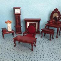 Vintage Mini Dollhouse Furniture Carved Chair Miniature Kid Pretend Play Toys