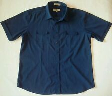 Mens Eighty Eight 88 Size XL Smokey Blue Collared Button-Down Short Sleeve Shirt