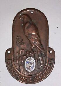 """ADAC Plakette """"RUND UM SCHOTTEN 27 JULI 1930"""" Teilnehmer Autoplakette ab 1€"""