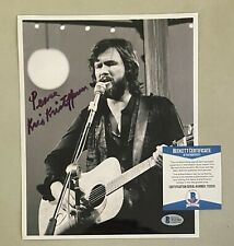 Kris Kristofferson Signed 8x10 Photo Autographed AUTO Beckett BAS COA