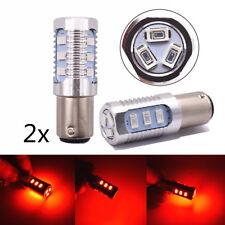 2x 1157 LED Red Car Brake Tail Stop Light Bulb Flash Strobe Blinker Alert Safety